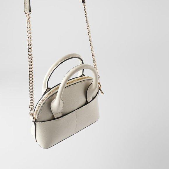 Zara Handbags - Zara Mini Bowling Bag